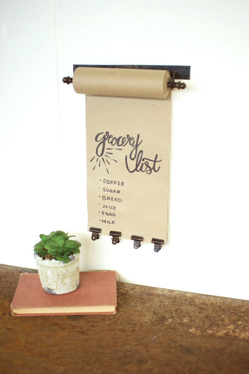 Hanging Note Rolls With 4 Antique Small