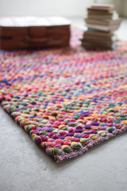 RECYCLED MULTI-COLOR COTTON RUG