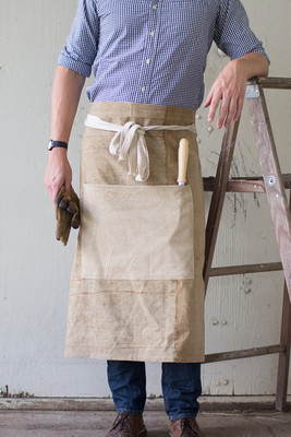 recycled canvas waist apron