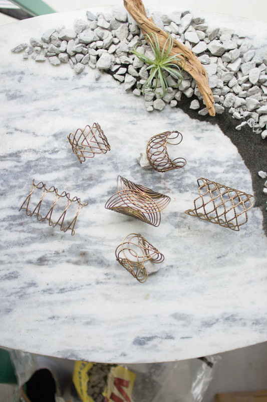 ANTIQUE BRASS WIRE CUFFS