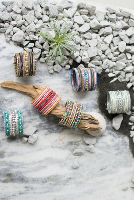 BEADED SPRING CUFFS