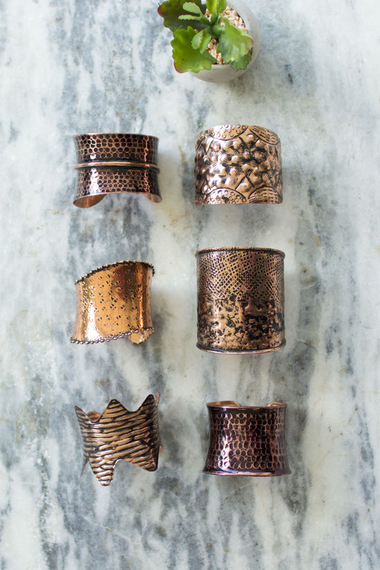 HAMMERED METAL CUFFS
