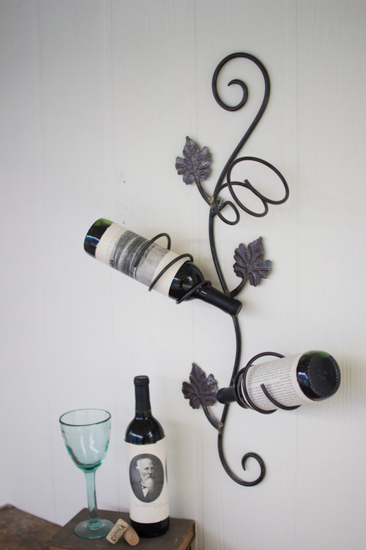 RUSTIC GRAPE VINE WALL WINE RACK