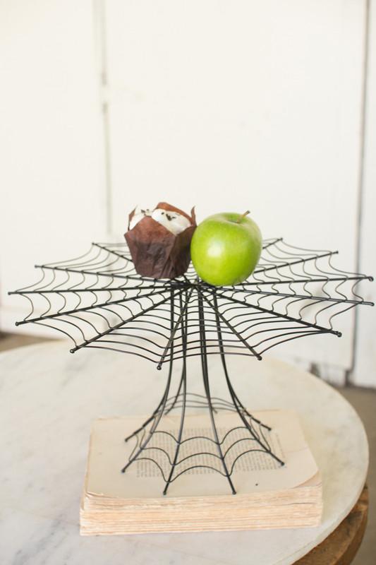 metal spider web display stand