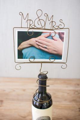 wine topper photo holder mr mrs