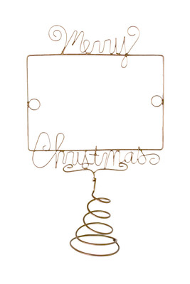 merry christmas wire wine topper - What Day Does Christmas Fall On