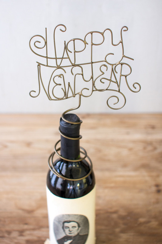 wine topper happy new year
