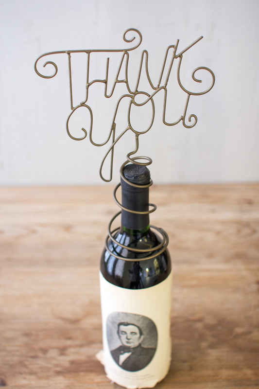 wine topper thank you