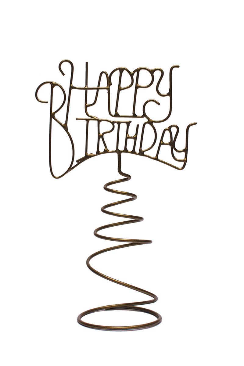 Happy Birthday Wine Topper