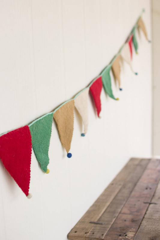 felt pennant flag garland