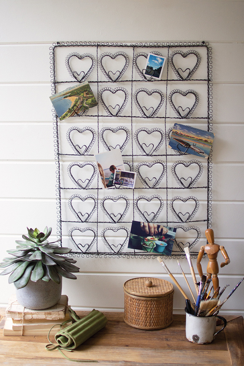 wire heart photo/card holder
