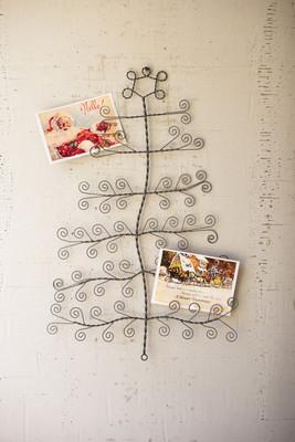 wall tree card holder