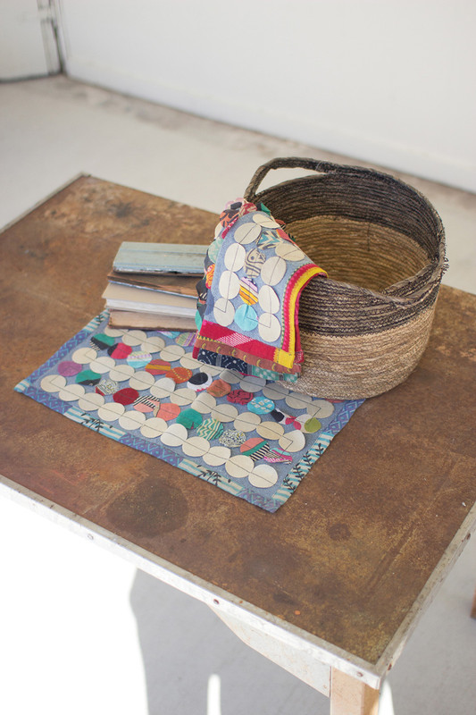 KANTHA ROUND PATCH PLACEMATS