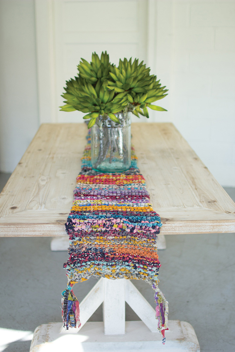 KNITTED KANTHA RUNNER