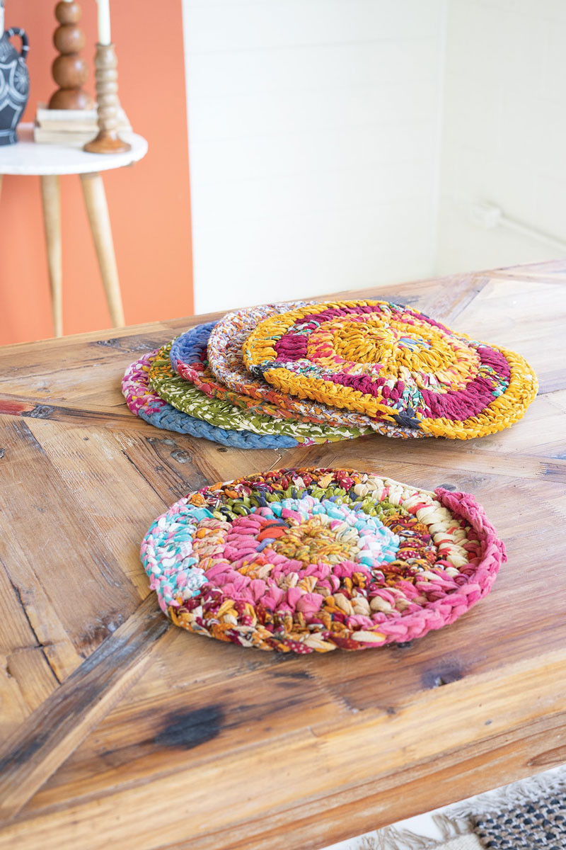 KNITTED KANTHA PLACEMATS