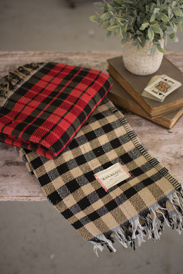 TABLE CLOTH - BLACK CHECKS