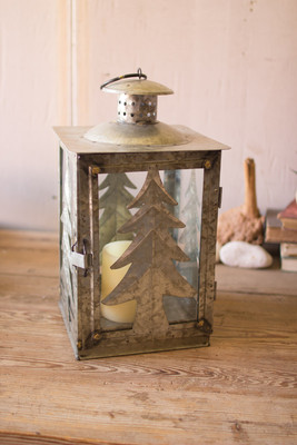 GALVANIZED TREE LANTERN