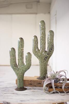 metal cactuses