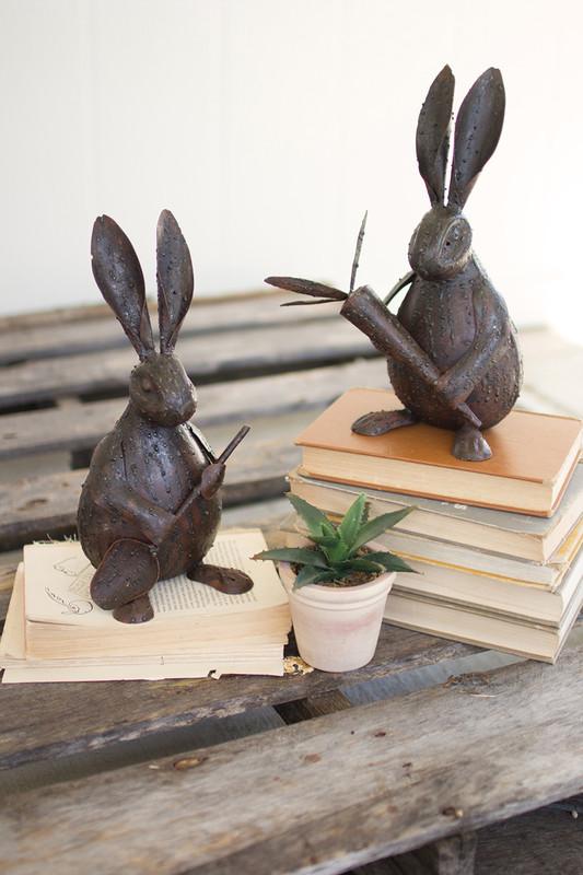 rustic drip weld rabbits