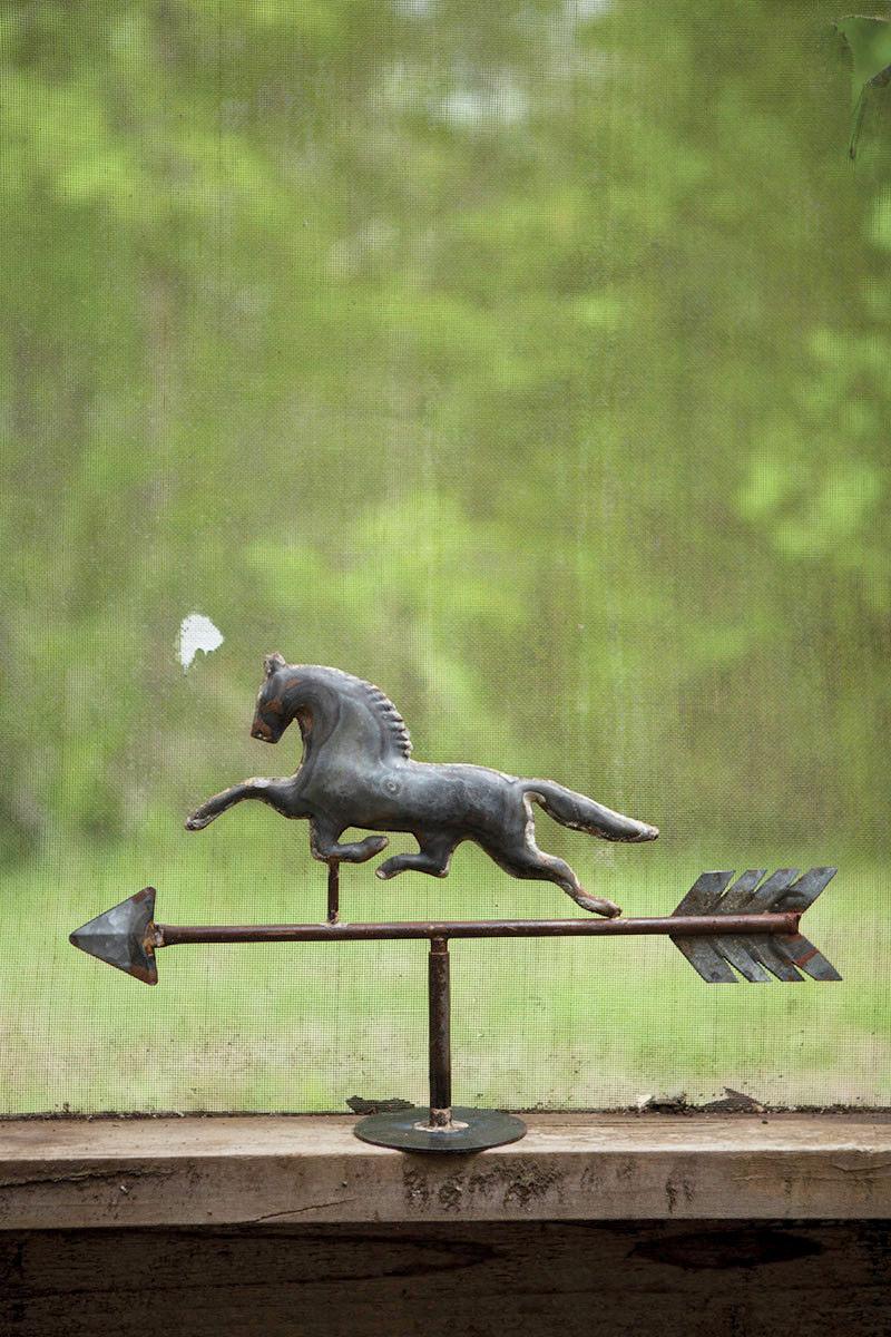 horse tabletop weathervane