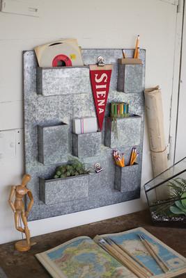 galvanized wall organizer