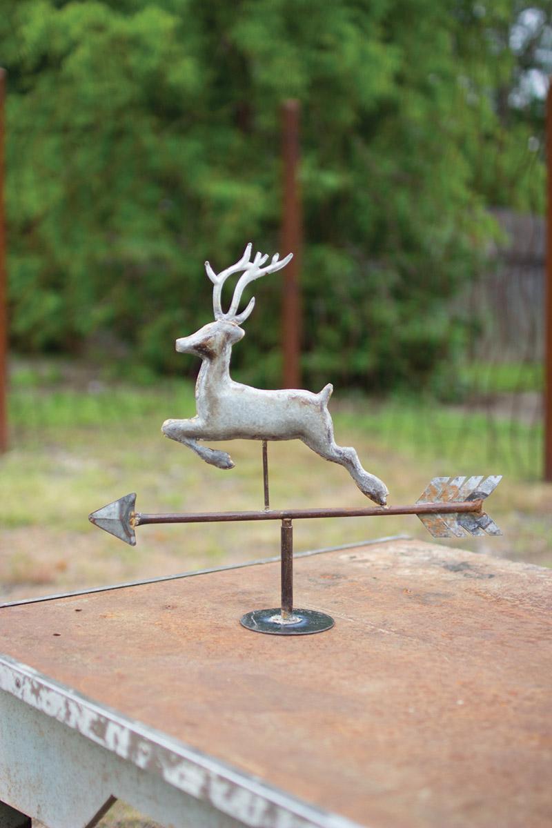 Delightful Table Top Galvanized Weathervane   Deer ...