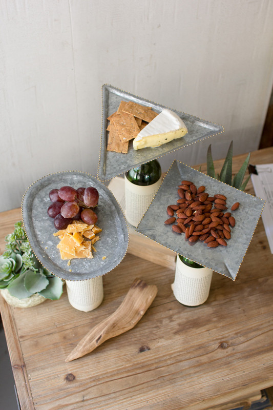 bottle topper zinc serving trays