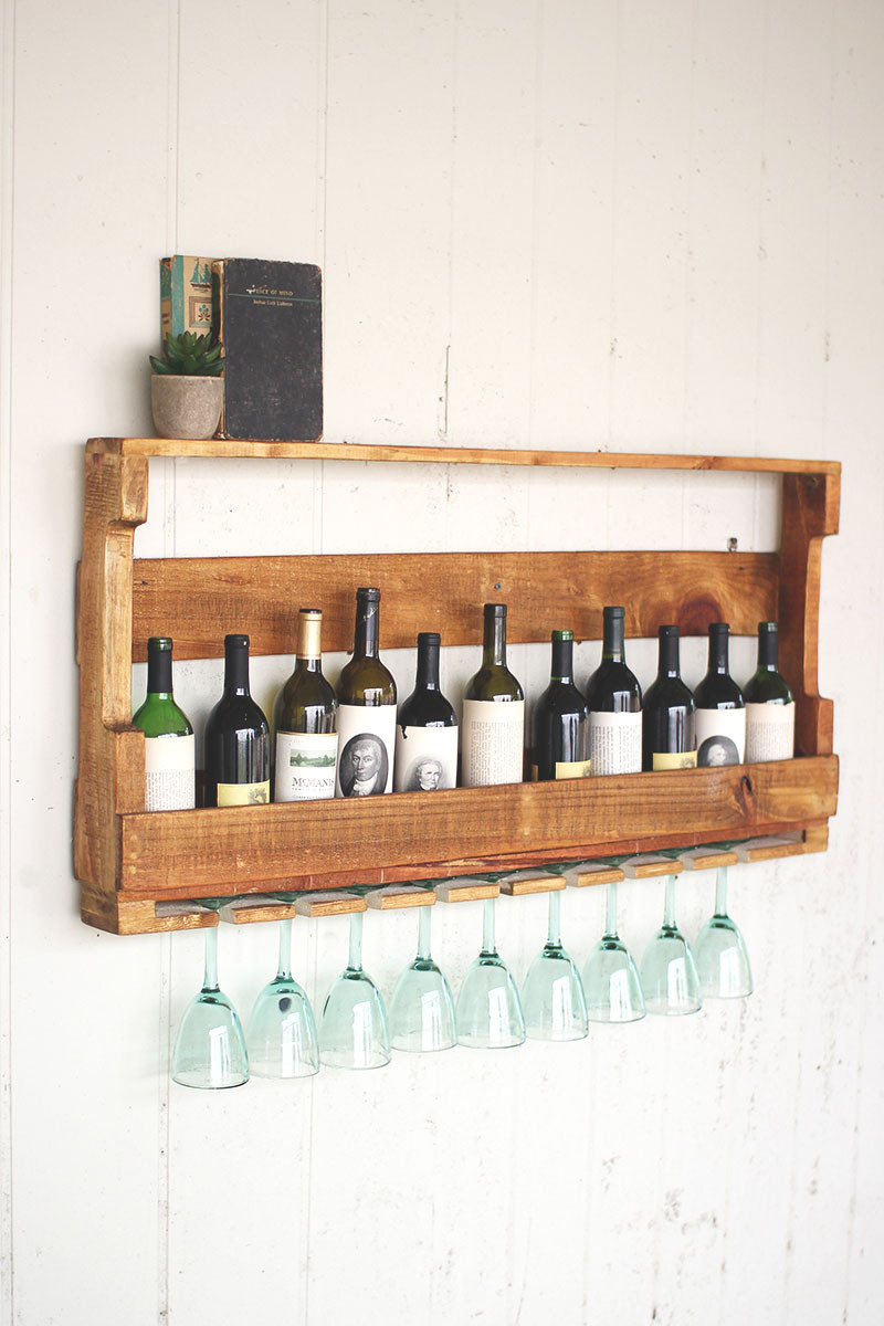 Recycled Pallet Wine Rack