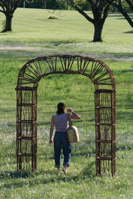 twig and vine garden archway