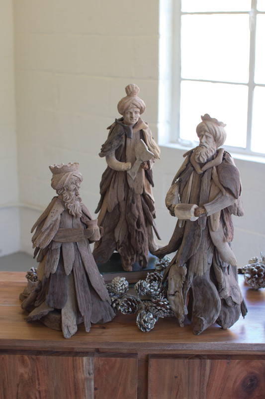 set of 3 driftwood kings
