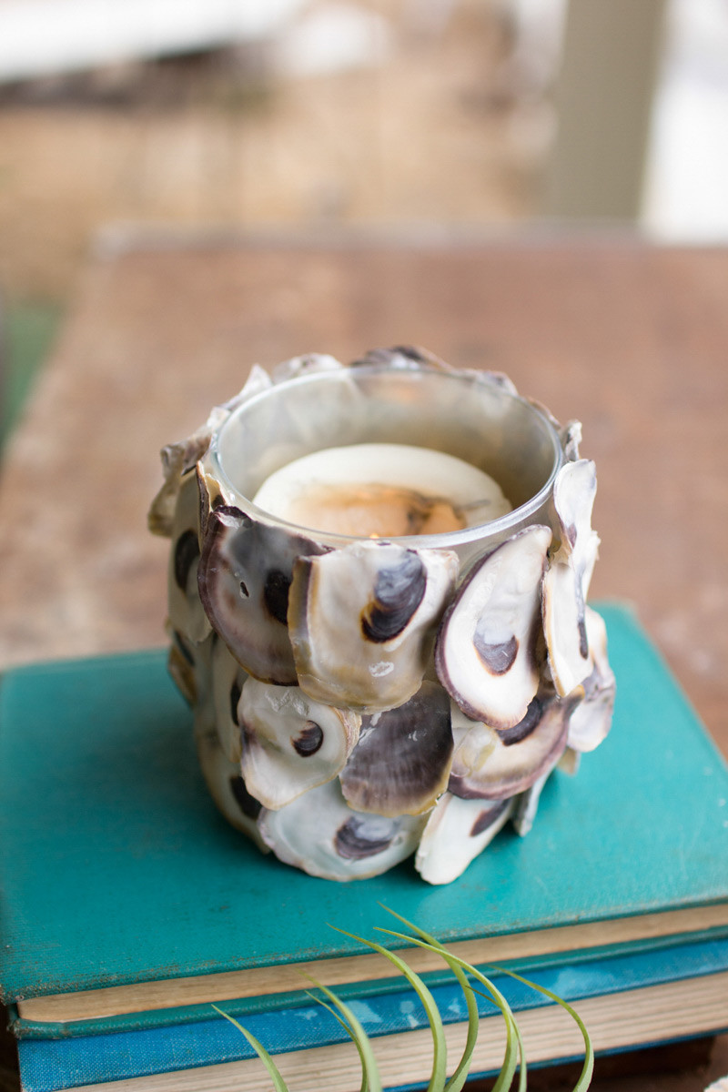 Oyster Shell Candle Holder