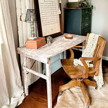 antique white folding recycled wooden tent table