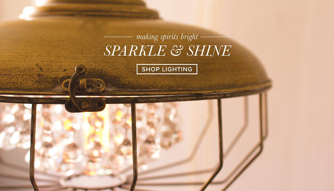 making spirits bright - sparkle and shine - shop lighting